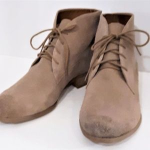Franco Sarto New Tan Suede Desert Booties Size 10